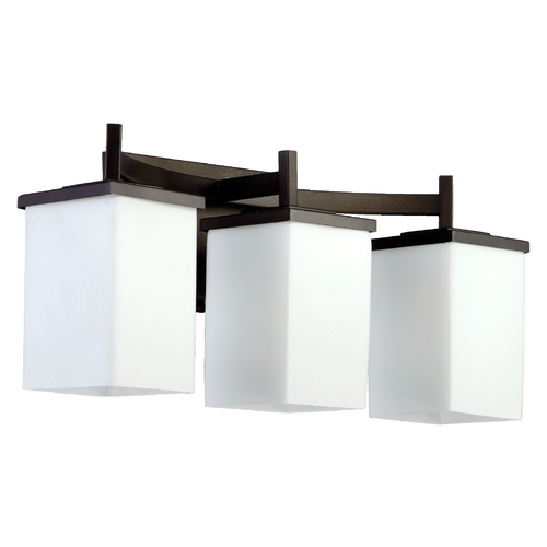 Quorum Lighting Quorum Lighting Delta Oiled Bronze Bathroom Light 5084-3-86
