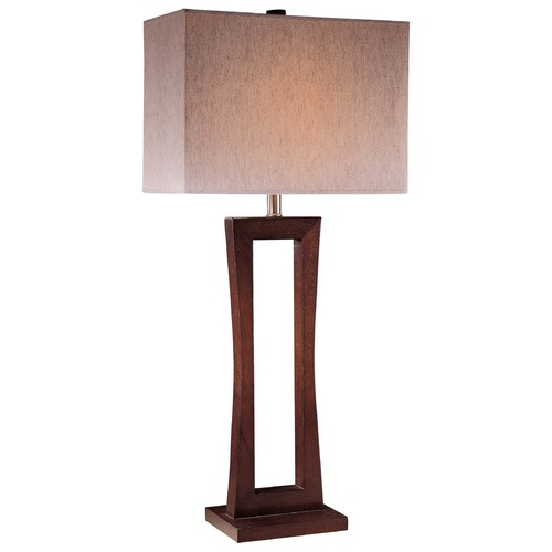 Minka Lavery Minka Metropolitan Cherry Table Lamp with Rectangle Shade 10710-625