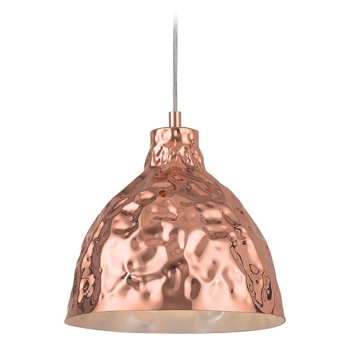 Elk Lighting Elk Lighting Hammersmith Polished Copper Pendant Light with Bowl / Dome Shade 46201/1