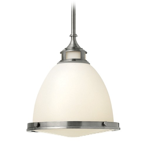 Hinkley Lighting Hinkley Lighting Amelia Polished Antique Nickel Mini-Pendant Light with Bowl / Dome Shade 3124PL-GU24