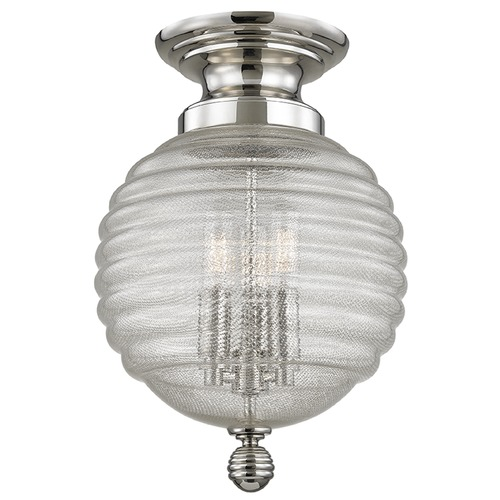 Hudson Valley Lighting Coolidge 3 Light Flushmount Light - Polished Nickel 3200-PN