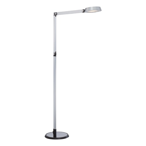 George Kovacs Lighting George Kovacs Chrome LED Swing Arm Lamp with Conical Shade P304-3-077-L