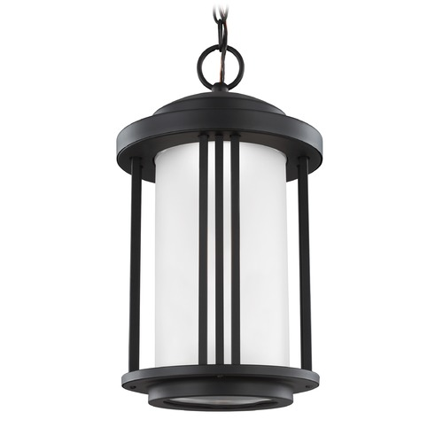 Sea Gull Lighting Sea Gull Crowell Black LED Outdoor Hanging Light 6247991S-12
