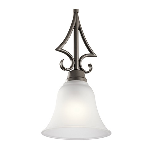 Kichler Lighting Kichler Lighting Bixler Olde Bronze LED Mini-Pendant Light with Bell Shade 43941OZL16