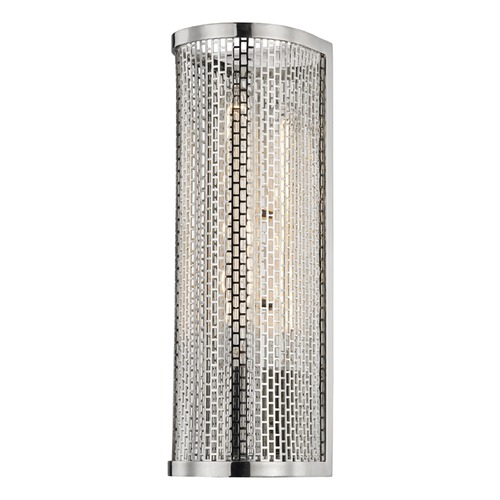 Mitzi by Hudson Valley Industrial Sconce Polished Nickel Mitzi Britt by Hudson Valley H151101-PN