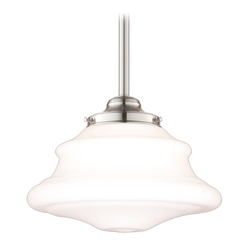 Hudson Valley Lighting Mini-Pendant Light with White Glass 3409-SN