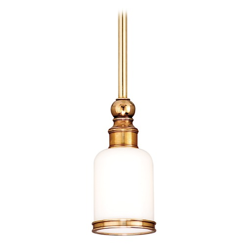 Hudson Valley Lighting Mini-Pendant Light with White Glass 6321-AGB