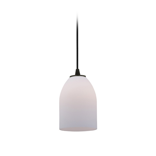Access Lighting Modern Mini-Pendant Light with White Glass 28018-2C-ORB/OPL