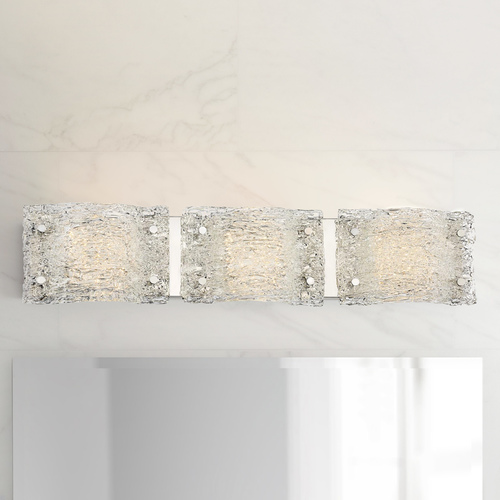 George Kovacs Lighting George Kovacs Forest Ice Chrome LED Bathroom Light P5283-077-L