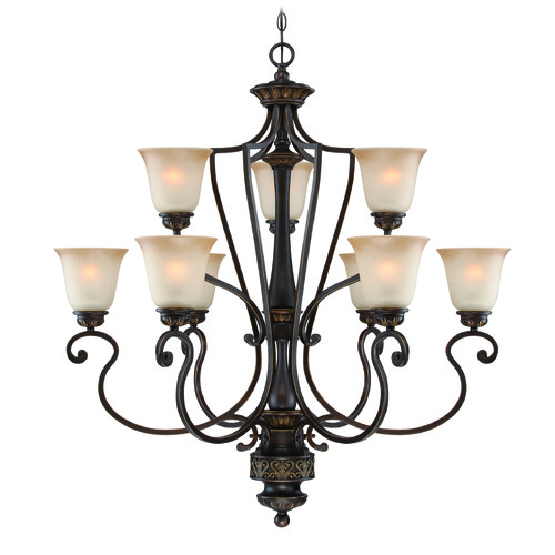Jeremiah Lighting Jeremiah Josephine Antique Bronze, Gold Accents Chandelier 28229-ABZG