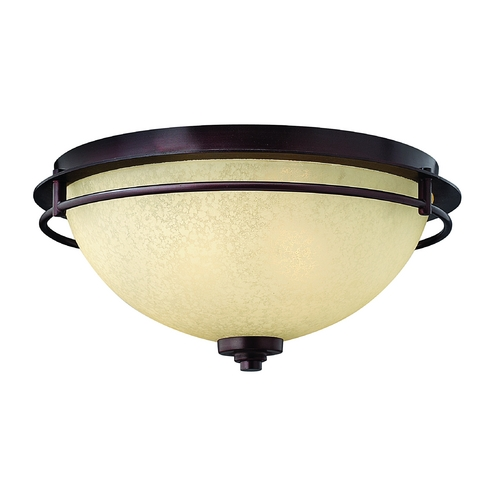 Hinkley Lighting Flushmount Light with Beige / Cream Glass in Metro Copper Finish 4721MC
