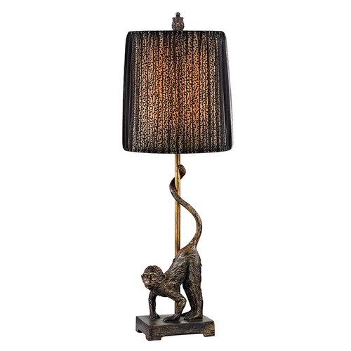 Dimond Lighting Accent Lamp with Black Shades in Bissau Bronze Finish D2477