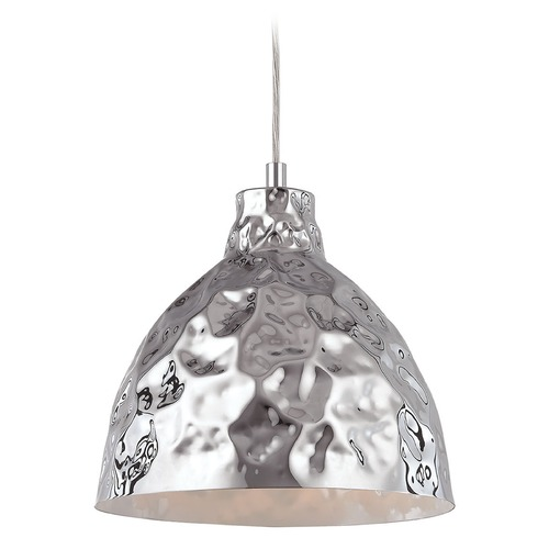 Elk Lighting Elk Lighting Hammersmith Polished Chrome Pendant Light with Bowl / Dome Shade 46211/1