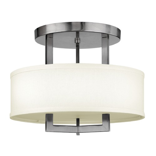 Hinkley Lighting Hinkley Lighting Hampton Antique Nickel Semi-Flushmount Light 3200AN-GU24