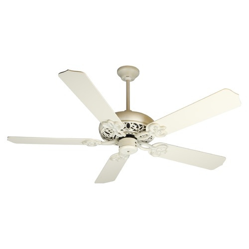 Craftmade Lighting Craftmade Lighting Cecilia Antique White Distressed Ceiling Fan Without Light K10615