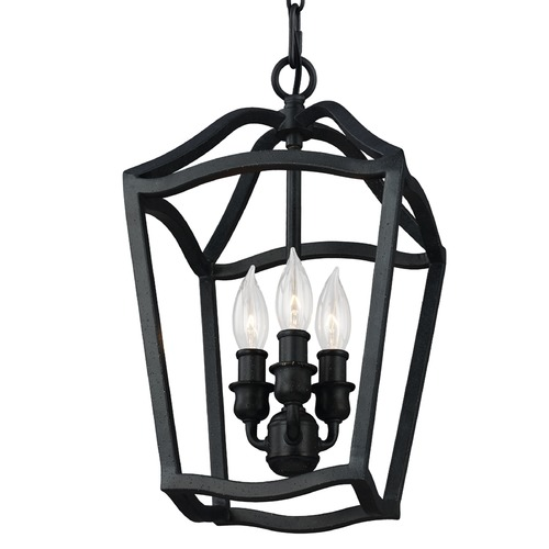 Feiss Lighting Feiss Lighting Yarmouth Antique Forged Iron Mini-Pendant Light F2974/3AF