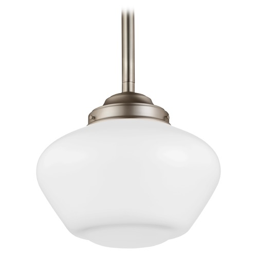 Feiss Lighting Feiss Alcott Satin Nickel LED Pendant Light P1387SN-LED