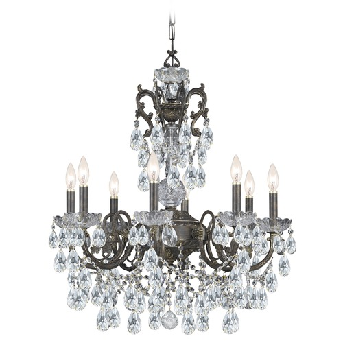 Crystorama Lighting Crystorama Lighting Legacy English Bronze Crystal Chandelier 5198-EB-CL-I