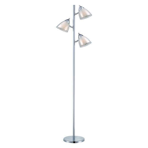 Lite Source Lighting Lite Source Chrome Floor Lamp with Conical Shade LSF-81615A/WHT