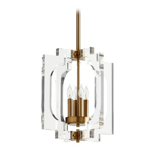 Quorum Lighting Quorum Lighting Broadway Aged Brass Pendant Light 605-4-80