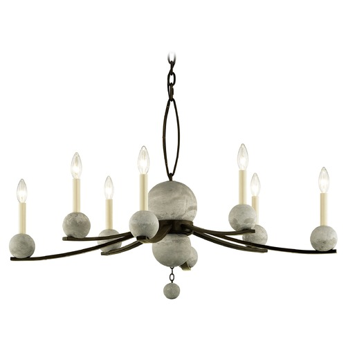 Troy Lighting Troy Lighting Tallulah Natural Rust with Raw Concrete Chandelier F6338