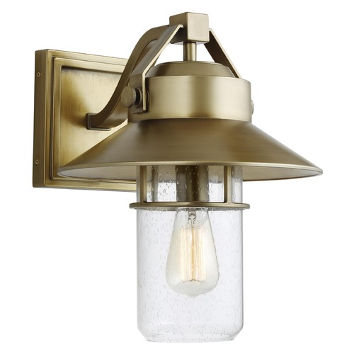Feiss Lighting Feiss Lighting Boynton Painted Distressed Brass Outdoor Wall Light OL13902PDB