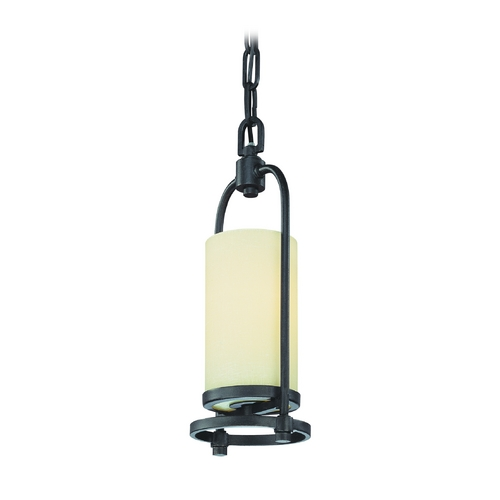Troy Lighting Mini-Pendant Light with Beige / Cream Shade F1807FBZ
