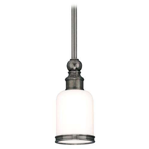 Hudson Valley Lighting Mini-Pendant Light with White Glass 6321-AN
