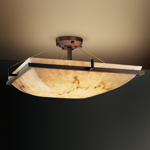 Justice Design Group Justice Design Group Lumenaria Collection Semi-Flushmount Light FAL-9781-25-DBRZ