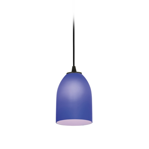 Access Lighting Modern Mini-Pendant Light with Blue Glass 28018-2C-ORB/COB