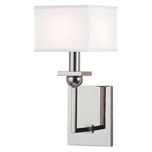 Hudson Valley Lighting Morris 1 Light Sconce Square Shade - Polished Nickel 5211-PN-WS
