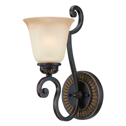 Craftmade Lighting Craftmade Josephine Antique Bronze, Gold Accents Sconce 28261-ABZG