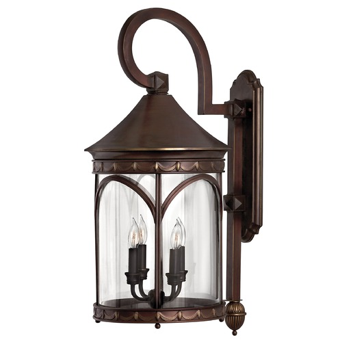 Hinkley Lighting Outdoor Wall Light with Clear Glass in Copper Bronze Finish 2315CB
