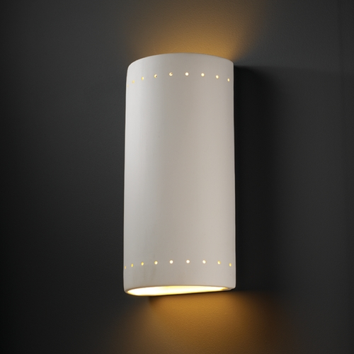 Justice Design Group Outdoor Wall Light in Bisque Finish CER-1195W-BIS