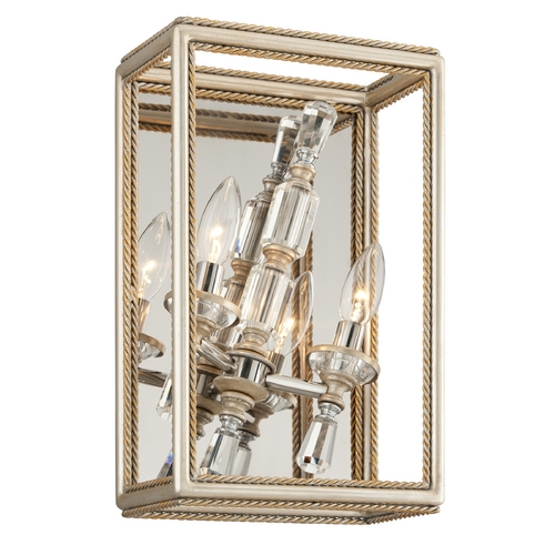 Corbett Lighting Corbett Lighting Houdini Silver Leaf with Gold Leaf Sconce 177-12