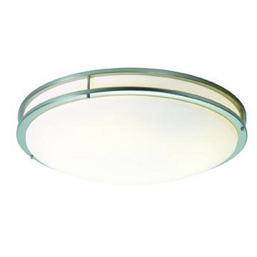 Access Lighting Access Lighting Saloris Brushed Steel LED Flushmount Light 20741LEDD-BS/ACR