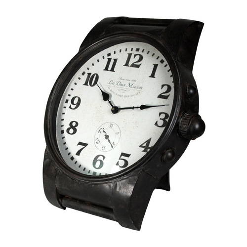 StyleCraft Stylecraft Black Iron Home Décor Clock WC2049DS