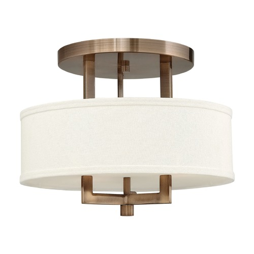Hinkley Lighting Hinkley Lighting Hampton Brushed Bronze Semi-Flushmount Light 3200BR-GU24