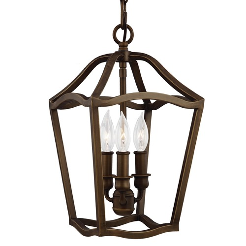 Feiss Lighting Feiss Lighting Yarmouth Painted Aged Brass Mini-Pendant Light F2974/3PAGB