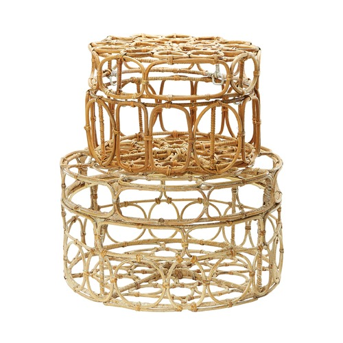 Dimond Lighting Round Washed Natural Oval Ring Box - Set Of 2 287003/S2