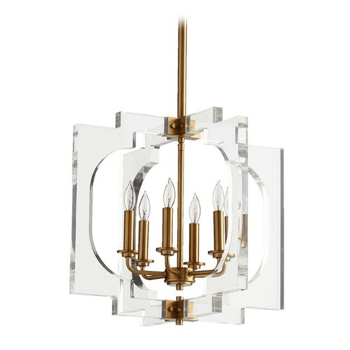 Quorum Lighting Quorum Lighting Broadway Aged Brass Pendant Light 605-6-80