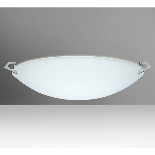 Besa Lighting Besa Lighting Sonya Frosted Glass Polished Nickel Flushmount Light 841825-PN