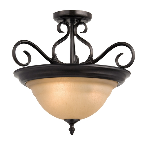 Maxim Lighting Maxim Lighting Pacific Kentucky Bronze Semi-Flushmount Light 2652WSKB