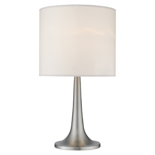 Z-Lite Z-Lite Portable Lamps Brushed Nickel Table Lamp with Drum Shade TL1002