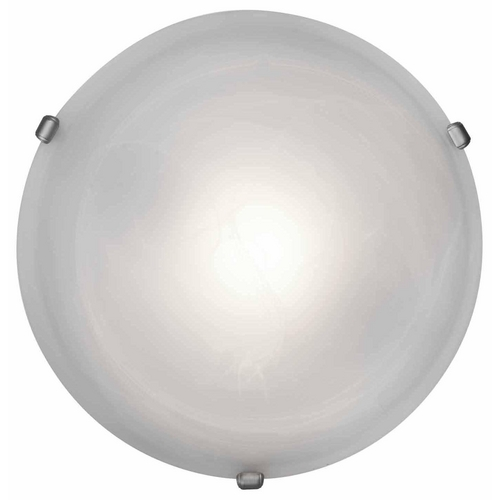 Access Lighting Modern Flushmount Light with Alabaster Glass in Satin Nickel Finish 50050-SAT/ALB