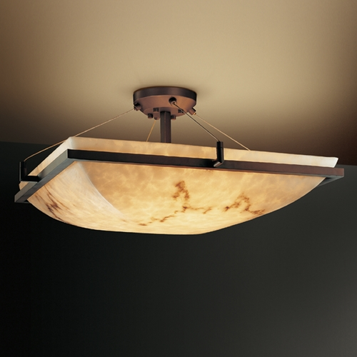 Justice Design Group Justice Design Group Lumenaria Collection Semi-Flushmount Light FAL-9782-25-DBRZ