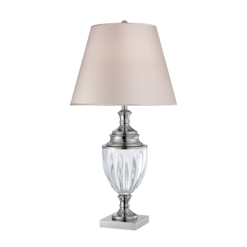 Lite Source Lighting Lite Source Lighting Sasilvia Chrome Table Lamp with Empire Shade LS-22126