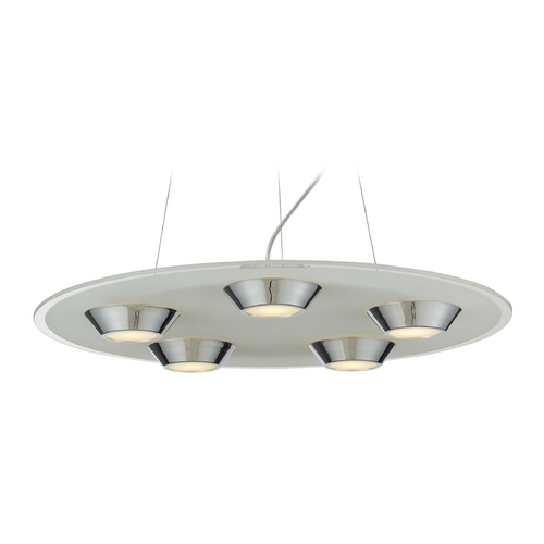 Elk Lighting Modern LED Pendant Light in Chrome Finish 81063/5