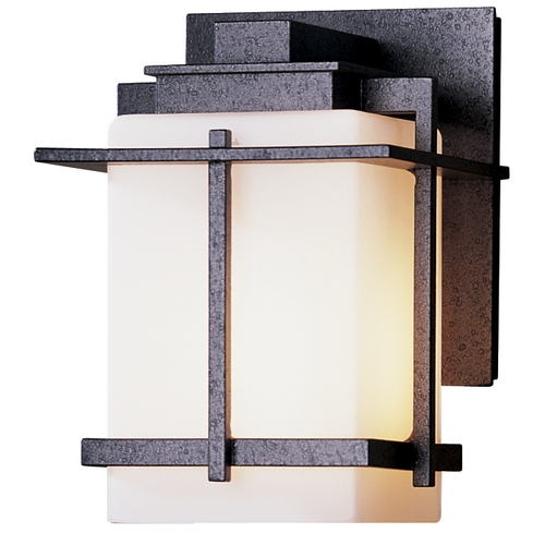 Hubbardton Forge Lighting Small Outdoor Wall Light with Opal Glass - 7-1/2-Inches Tall 306006-SKT-20-GG0110