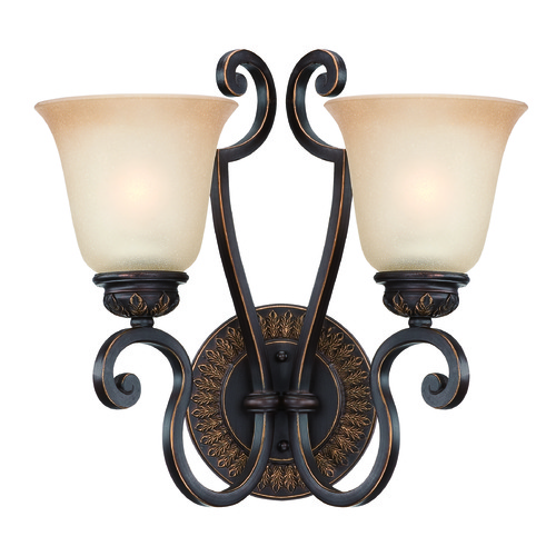 Craftmade Lighting Craftmade Josephine Antique Bronze, Gold Accents Sconce 28262-ABZG